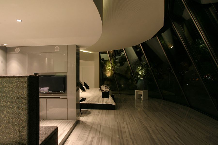 5. Etage in der Nacht